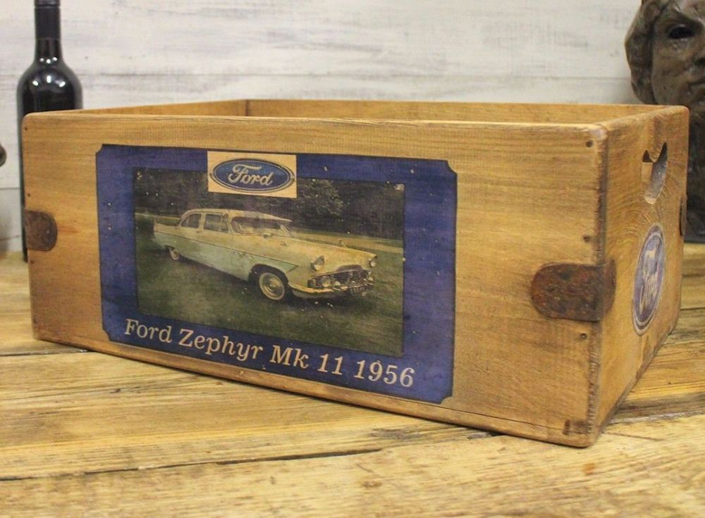 Ford Zephyr Vintage Box Great Mens Gift Storage Crate Desk Classic Car Garage